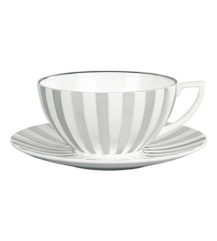JASPER CONRAN @ WEDGWOOD 白金的条纹的茶杯
