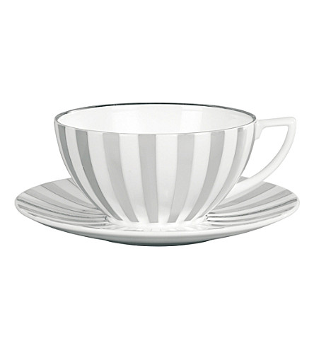 JASPER CONRAN @ WEDGWOOD Platinum Striped tea saucer