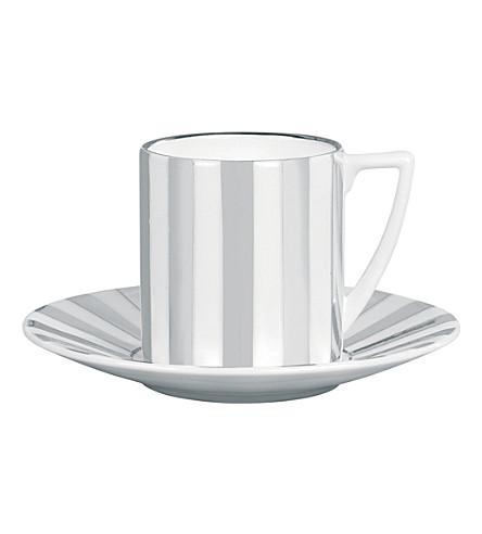 JASPER CONRAN @ WEDGWOOD Platinum Striped espresso cup
