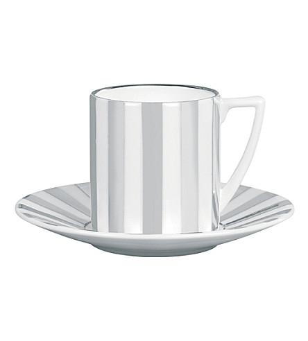 JASPER CONRAN @ WEDGWOOD Platinum Striped espresso saucer
