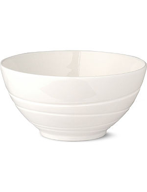 JASPER CONRAN @ WEDGWOOD White embossed bowl 14cm