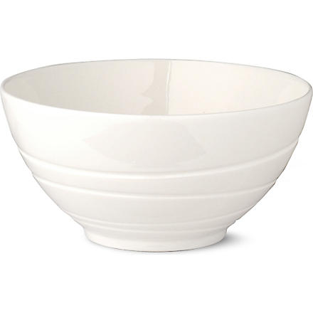 JASPER CONRAN @ WEDGWOOD White embossed bowl 14cm