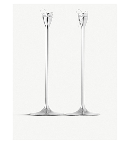 VERA WANG @ WEDGWOOD Love Knots taper holders pair