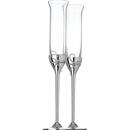 VERA WANG @ WEDGWOOD Set of two Love Knots toasting flutes