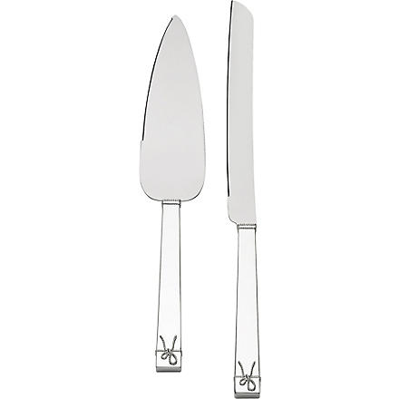 VERA WANG @ WEDGWOOD Love Knots cake knife and trowel set