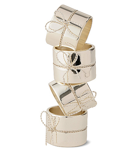 VERA WANG @ WEDGWOOD Set of four Love Knots napkin rings