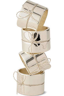 VERA WANG @ WEDGWOOD Love Knots napkin ring set
