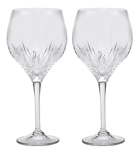VERA WANG @ WEDGWOOD Duchesse set of 2 crystal goblets