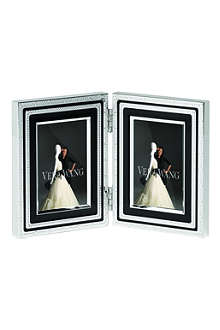 VERA WANG @ WEDGWOOD With Love Noir folding frame 2x3
