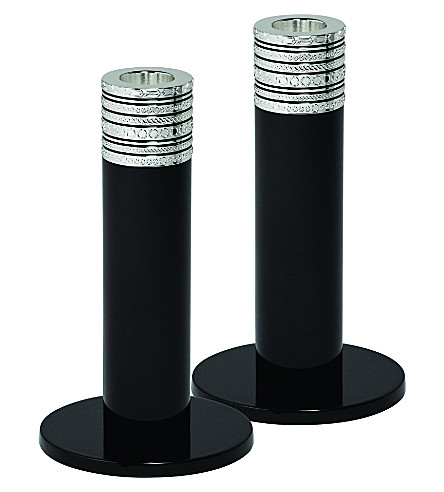 VERA WANG @ WEDGWOOD With Love Noir pair of candlesticks