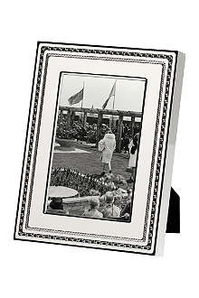 VERA WANG @ WEDGWOOD Silver-plated photo frame 4x6 inches