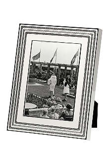 VERA WANG @ WEDGWOOD Silver-plated photo frame 4x6inch