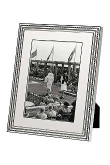 VERA WANG @ WEDGWOOD Silver-plated photo frame 8