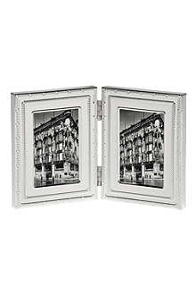 VERA WANG @ WEDGWOOD Silver-plated folding frame 2x3inches