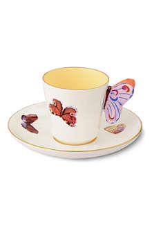 WEDGWOOD Harlequin Collection Butterfly teacup and saucer