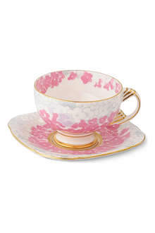 WEDGWOOD Harlequin Collection Deco Bloom teacup and saucer