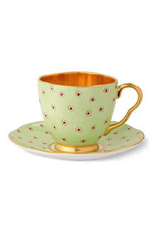 WEDGWOOD Harlequin Collection Polka Dot teacup and saucer