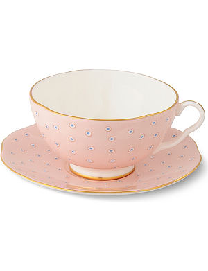 WEDGWOOD Polka Dot Tea Story teacup and saucer