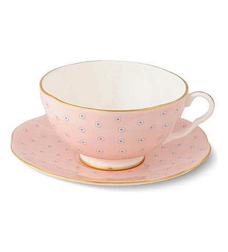 WEDGWOOD Polka Dot Tea Story teacup and saucer