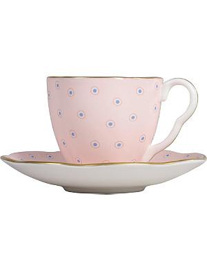 WEDGWOOD Polka Dot Tea Story coffee cup and saucer