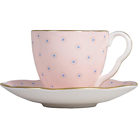 WEDGWOOD Polka Dot Tea Story coffee cup and saucer