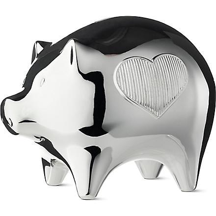 VERA WANG @ WEDGWOOD Silver-plated baby piggy bank