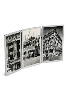 VERA WANG @ WEDGWOOD Vera Wang Gifts silverplate triple folding picture frame