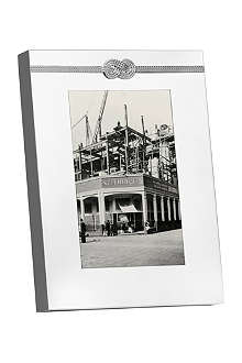 VERA WANG @ WEDGWOOD Silver-plated photo frame 4x6in