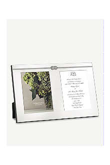 VERA WANG @ WEDGWOOD Infinity knot double invitation frame