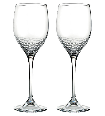 VERA WANG @ WEDGWOOD Set of two sequins wine glasses