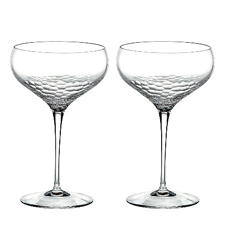 VERA WANG @ WEDGWOOD Set of two Sequin champagne saucers