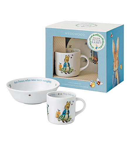 WEDGWOOD Peter Rabbit Boys two-piece nursery set