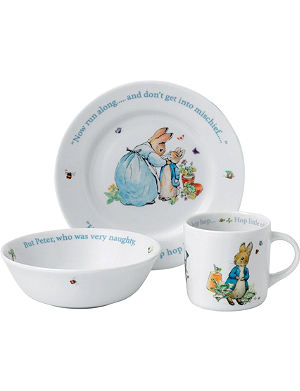 WEDGWOOD Peter Rabbit Boys three-piece set