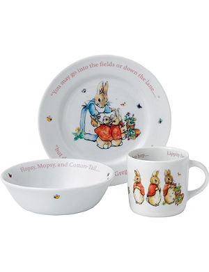WEDGWOOD Peter Rabbit Girls three-piece set