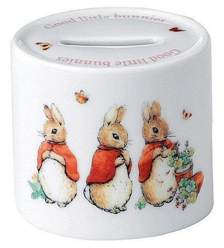 WEDGWOOD Peter Rabbit Girls moneybox