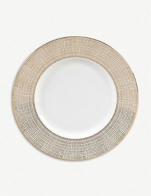 VERA WANG @ WEDGWOOD Gilded Weave plate 23cm