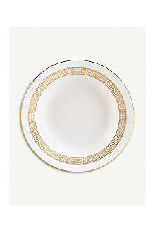 VERA WANG @ WEDGWOOD Gilded Weave soup plate 23cm