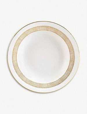 VERA WANG @ WEDGWOOD Gilded Weave soup plate 23cm