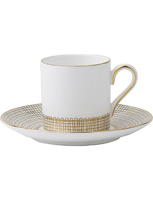 VERA WANG @ WEDGWOOD Gilded Weave coffee saucer