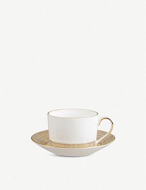 VERA WANG @ WEDGWOOD Gilded Weave tea saucer