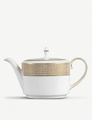 VERA WANG @ WEDGWOOD Gilded Weave teapot