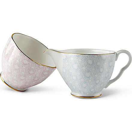 WEDGWOOD Cuckoo cream and sugar