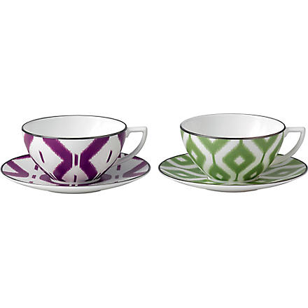 JASPER CONRAN @ WEDGWOOD Kilim teacup and saucer pair