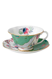 WEDGWOOD Butterfly Bloom teacup and saucer