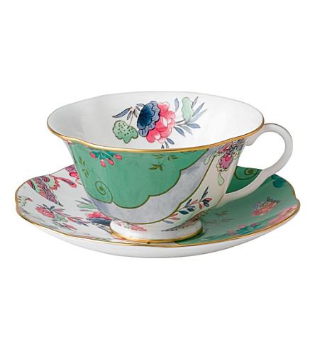 WEDGWOOD 蝴蝶绽放茶杯和茶碟