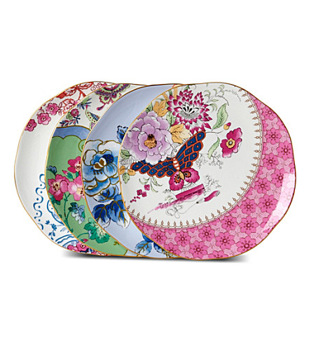 WEDGWOOD Butterfly Bloom set of four plates