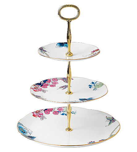 WEDGWOOD Butterfly Bloom three-tier cake stand