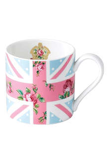 ROYAL ALBERT Cheeky Pink Union Jack mug