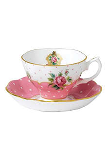 WEDGWOOD Cheeky Pink Vintage teacup and saucer