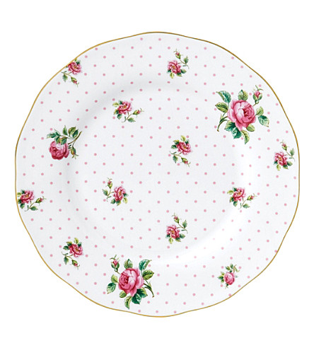 ROYAL ALBERT Cheeky Pink Vintage salad plate 20cm